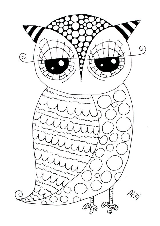 Free Owl Coloring Page Dibujar Y Colorar Coloring Pages