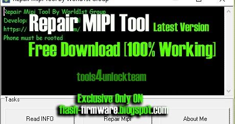 DownloadRepair MIPI Tool Feature: Read Info Repair Mipi File