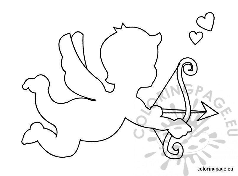 Cupid Template Printable Cupid Template Printable Coloring Page Id Card Template Templates Printable Free Book Cover Template