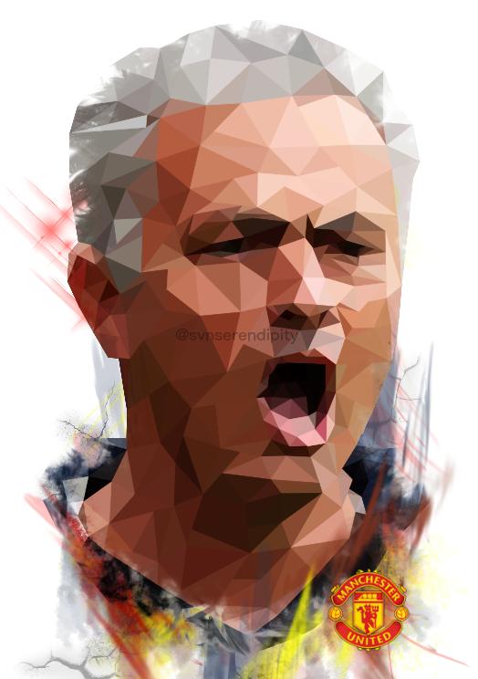 The Boss Manutd Osemourinho Manchester United Vectorart Digitalart Digitalpainting Watercolor