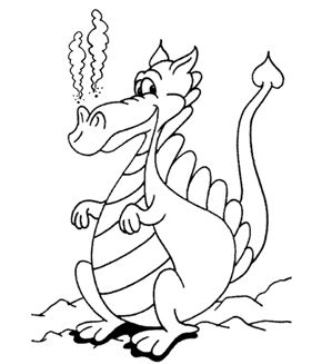 Printable Coloring Pages Dragon Coloring Page Coloring Pages Dragon Pictures