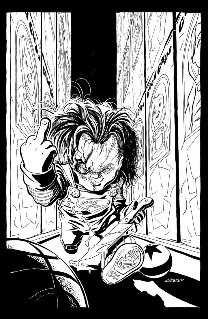 Heeeeere S Chucky Badass Drawings Horror Movie Art Horror Artwork