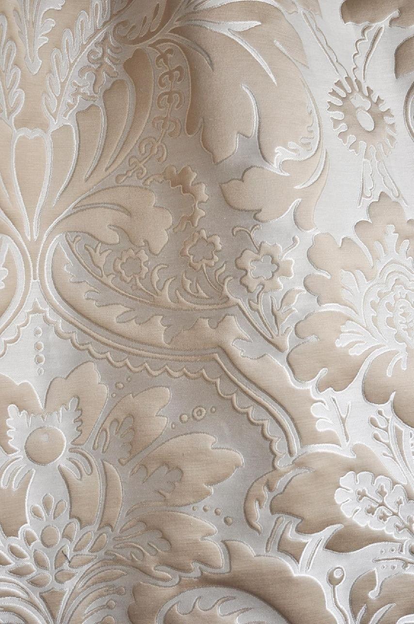 Tessuto damascato con motivi floreali ODALISQUE by
