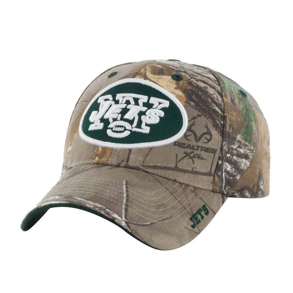 79817ae6a04 NFL New York Jets Fan Favorite Mass Realtree Frost Cap