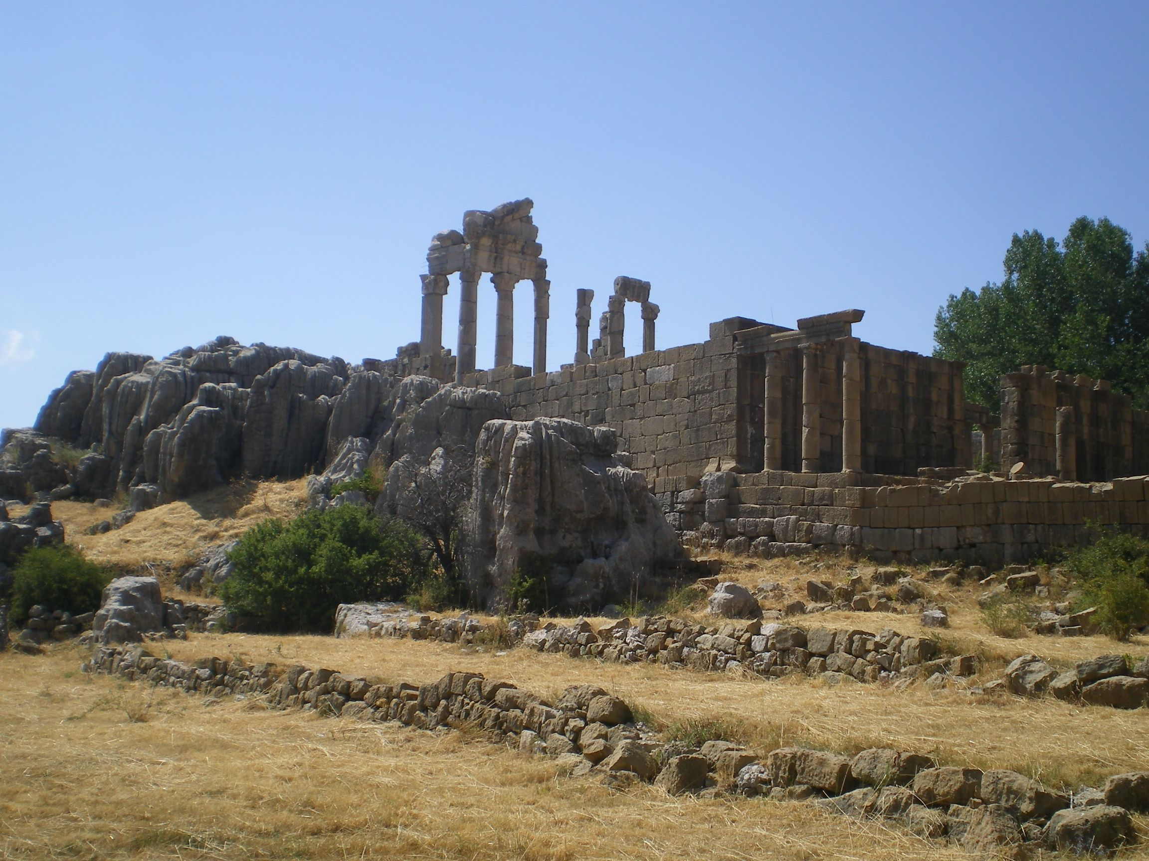 Ruins of the temple of Adonis  Faqra