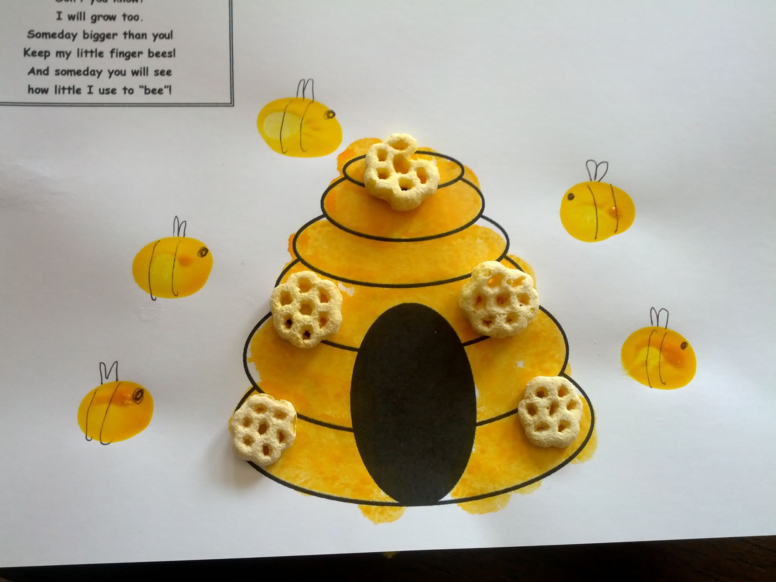 Bee fingerprint craft fingerprint crafts preschool