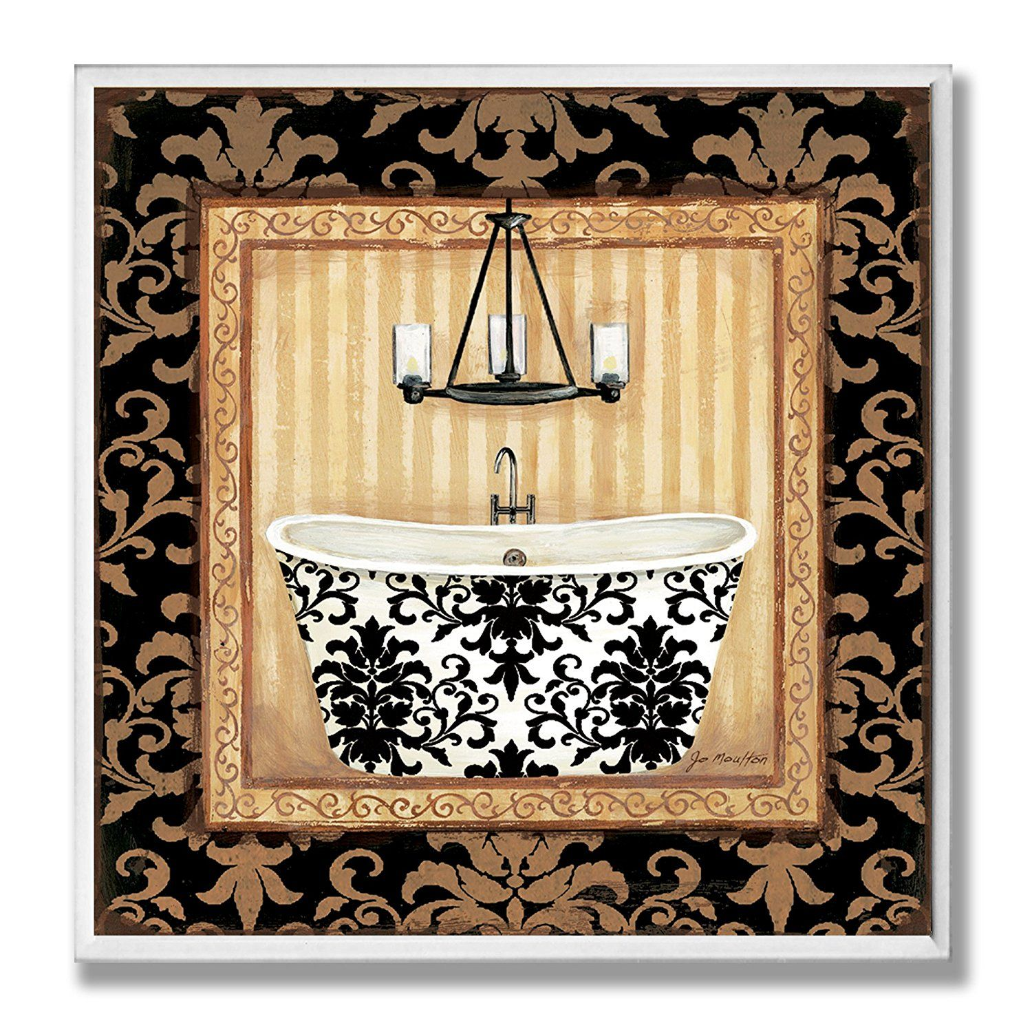 The Stupell Home Decor Collection Black Veranda Tub Bathroom Wall ...