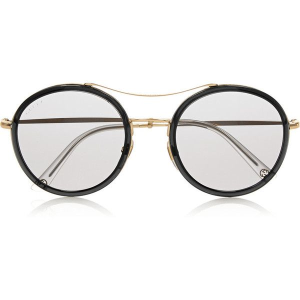 Gucci Round-frame acetate and metal sunglasses ( 425) ❤ liked on Polyvore  featuring accessories 94ced9721e5