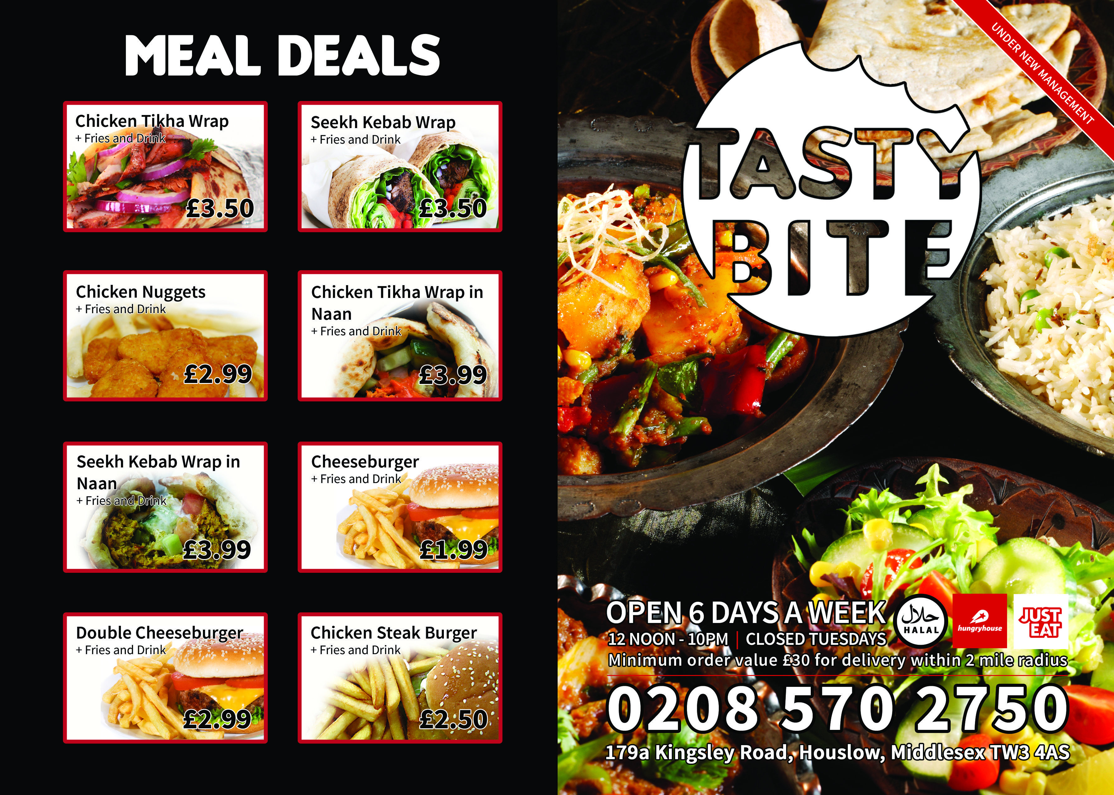big kahuna grill side 1 double sided a4 menu design by design