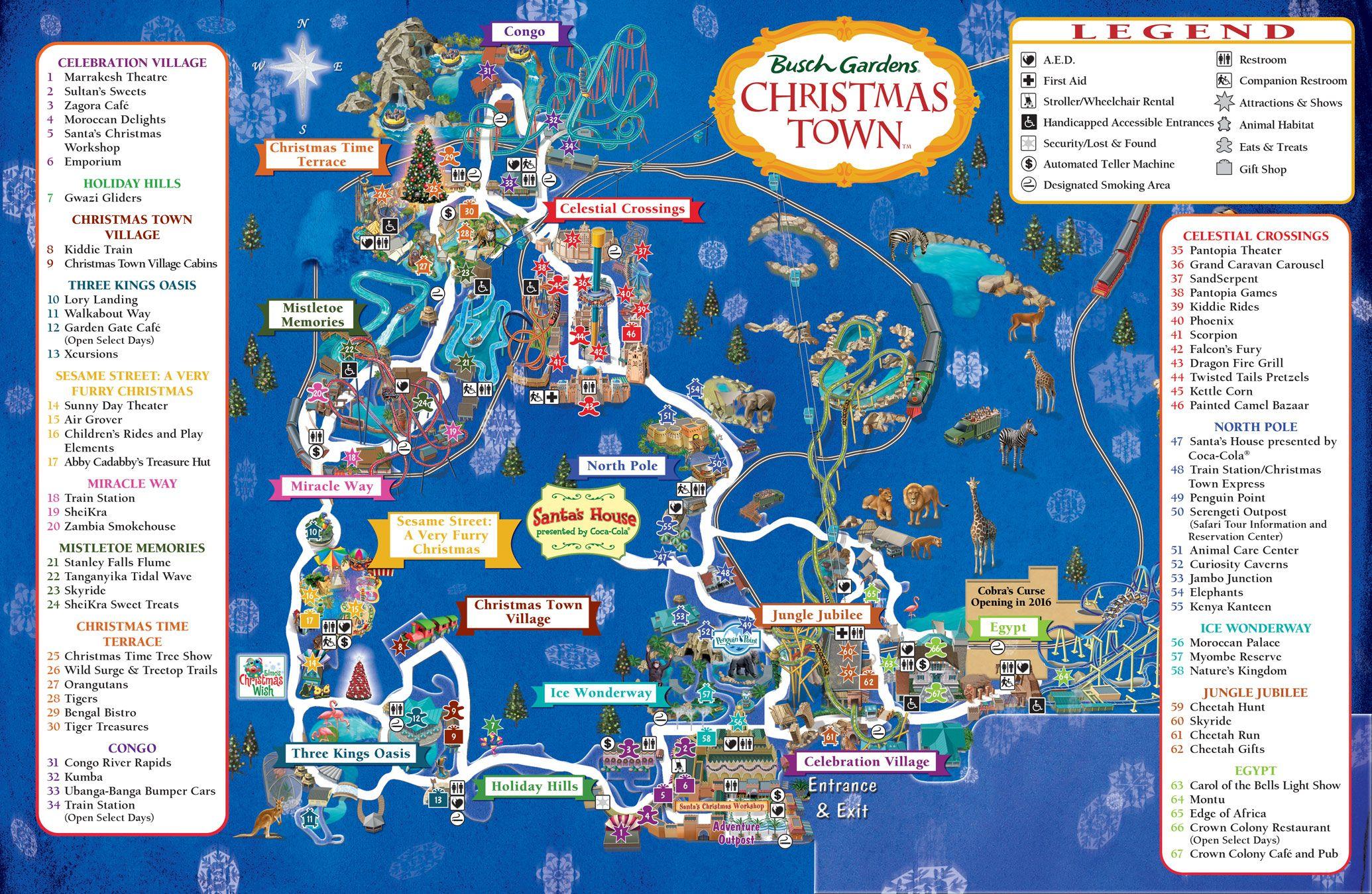 ec24a3de7c78dd5050b7feb2e2897bd8 - Busch Gardens Tampa Christmas Town Map