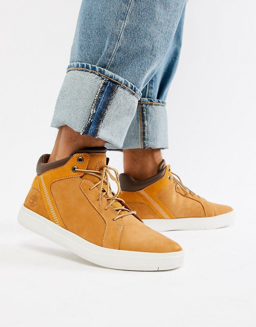 133ccbf2cd4 TIMBERLAND DAVIS SQUARE CHUKKA BOOTS IN WHEAT - BROWN. #timberland ...