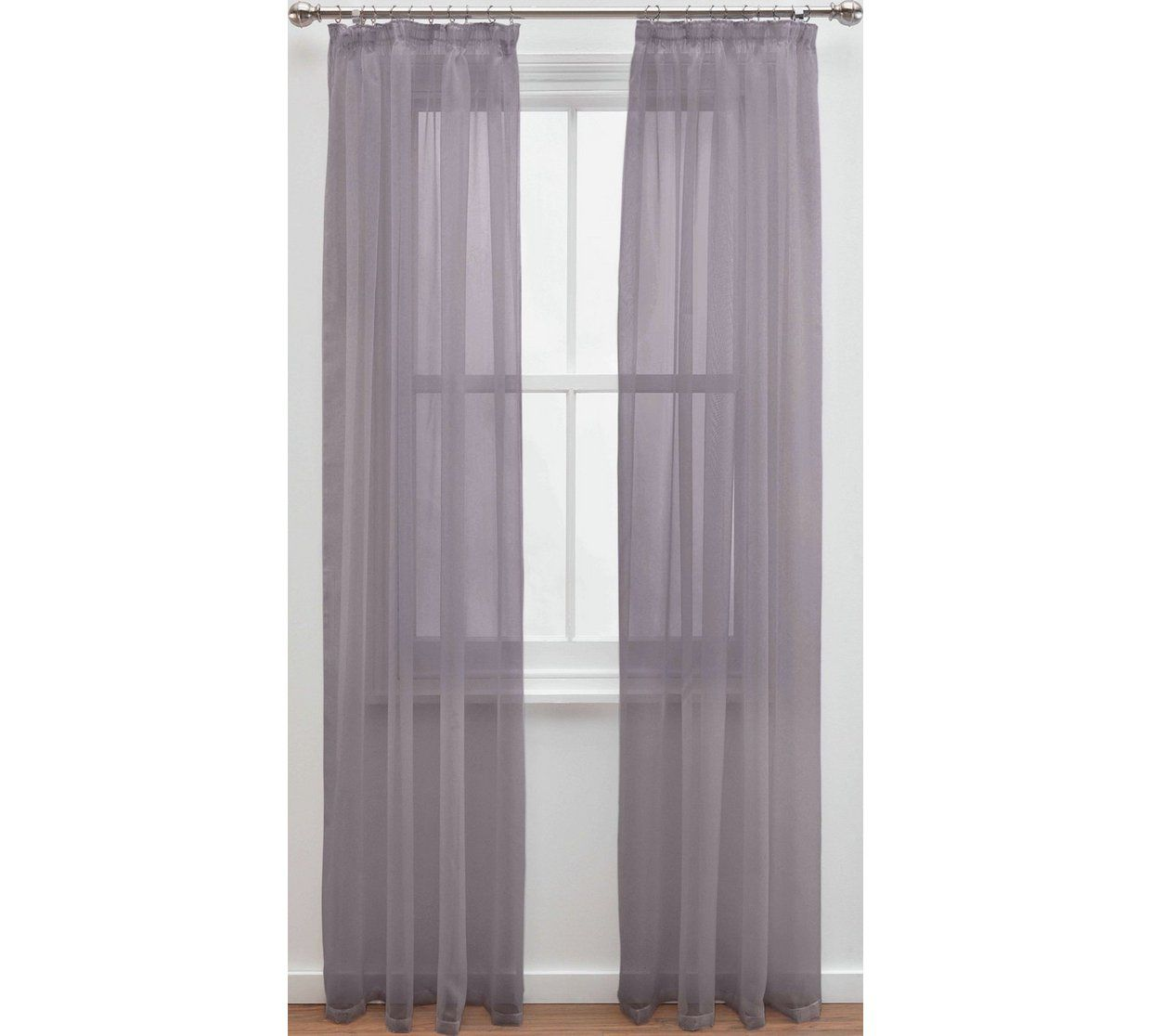 Buy Argos Home Unlined Voile Panels Grey Curtains Argos Home