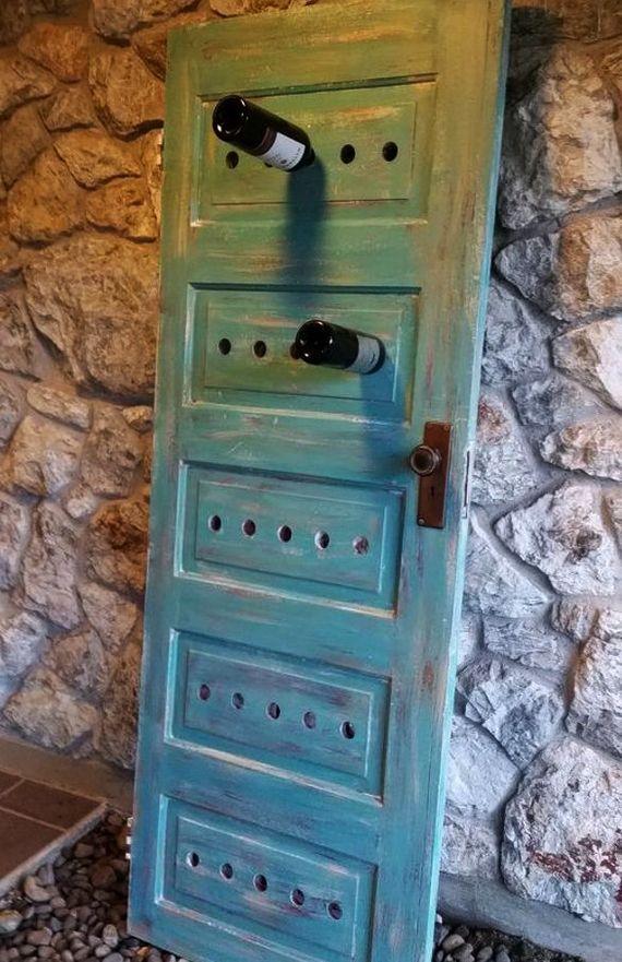 diy weinregal aus holztür in blau gestrichen | DIY | Pinterest | Diy ...
