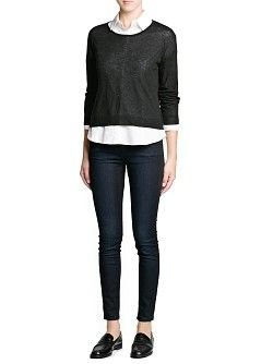 MANGO - CLOTHING - Cardigans and sweaters - Modal wool-blend cropped sweater