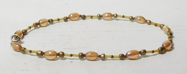 Beaded Choker Plus Size Anklet 11 14 12 12 15 12 19 Dusty Pink Yellow Brass Copper Trib Beaded Choker Plus Size Anklet 11 14 12 12 15 12 19 Dusty Pink Yellow Brass Copper...