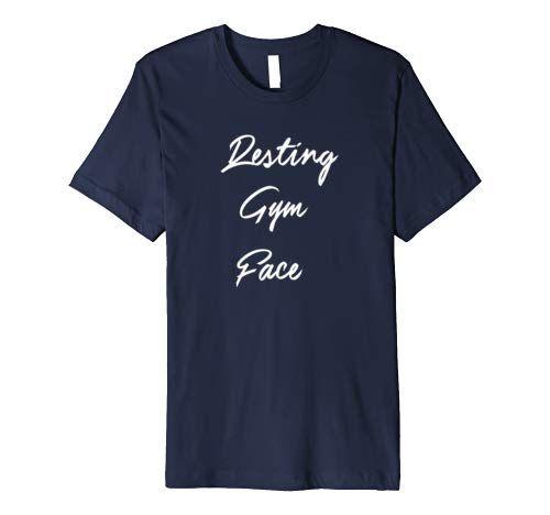 Gym Shirts For Women  Funny RESTING GYM FACE Shirt Premium T-Shirt