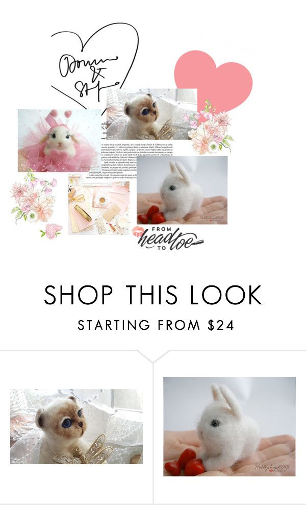 """""""Сharming Felted Animal"""" by labelleprovence ❤ liked on Polyvore featuring beauty and animal"""