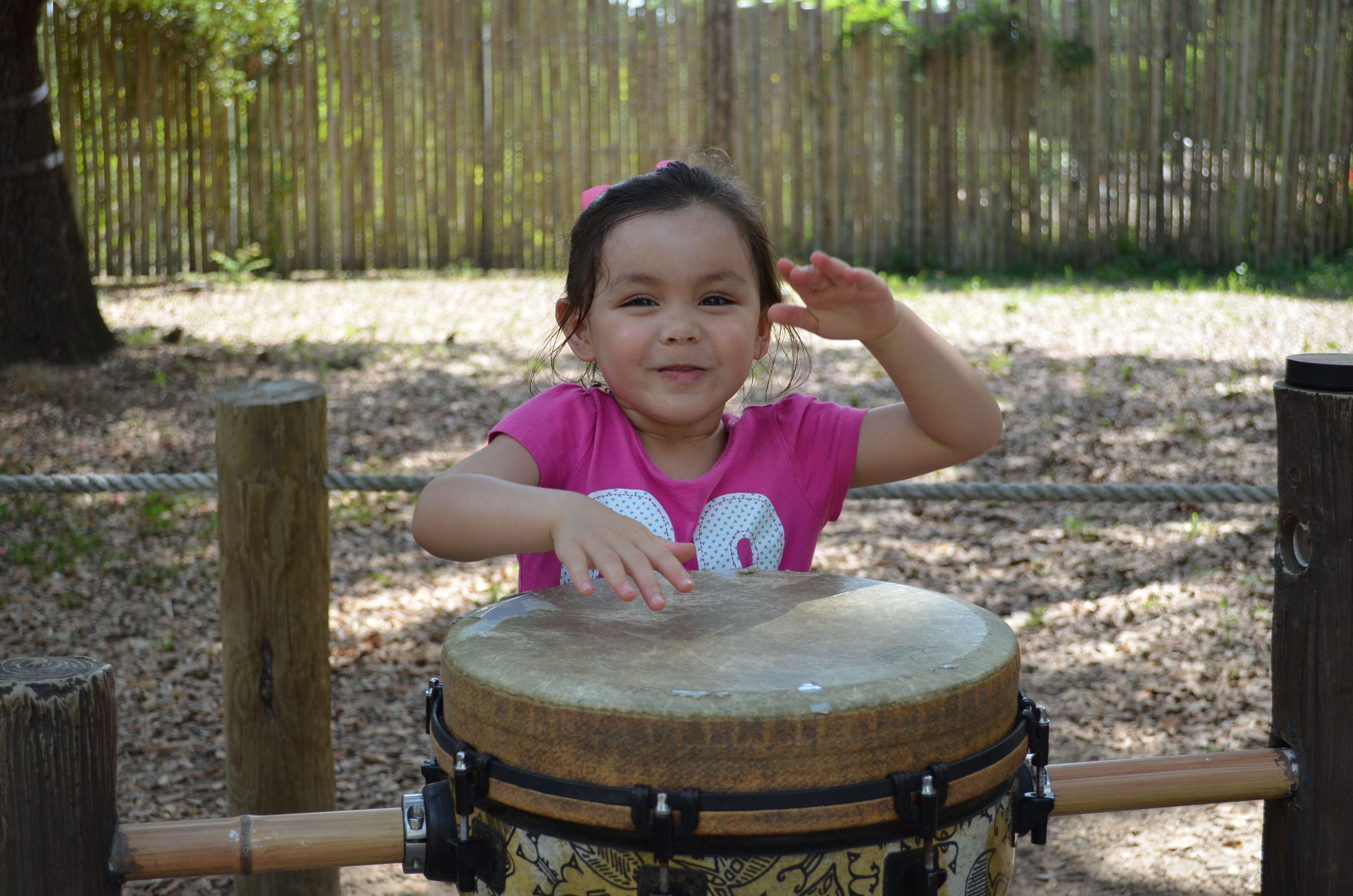 Banging drums