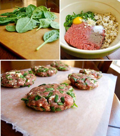 Spinach And Feta Burgers With Garlic Aioli A Sweet Pea Chef Recipe Turkey Burger Recipes Spinach And Feta Recipes