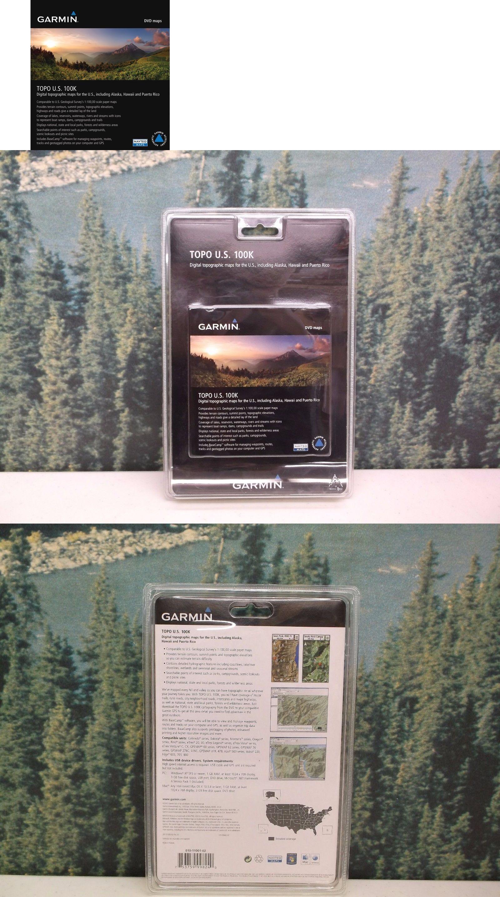 GPS Software And Maps Garmin Topo Us K Dvd Cd New Free - Garmin topo us 24k northeast dvd maps
