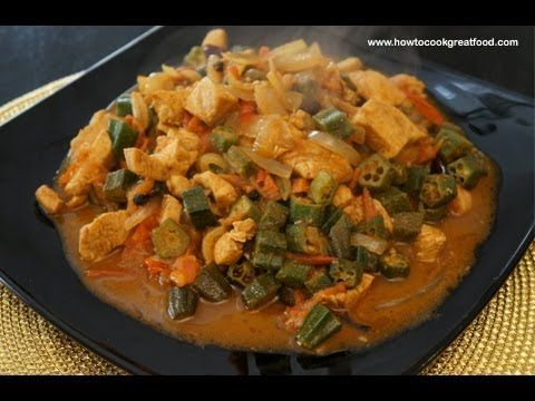 chicken okra curry super fast tasty easy cooking 15 min chicken okra curry ladies fingers indian masala another curry from the how to cook great food stable of video recipes forumfinder Choice Image