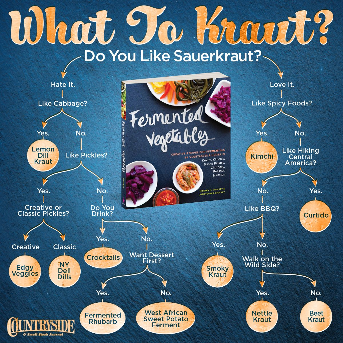 #Fermenting flowchart (64 recipes for creative fermenting vegetables and herbs)