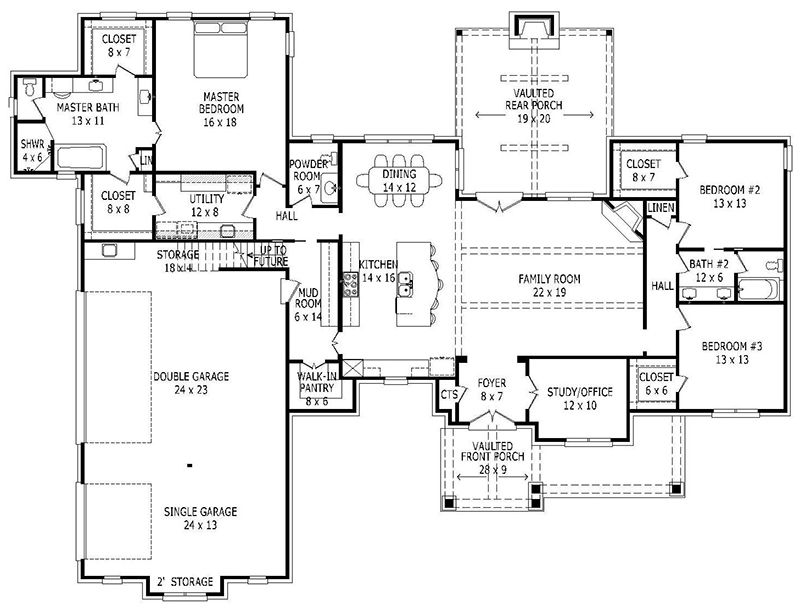house plan 940 00009 craftsman plan 2 700 square feet