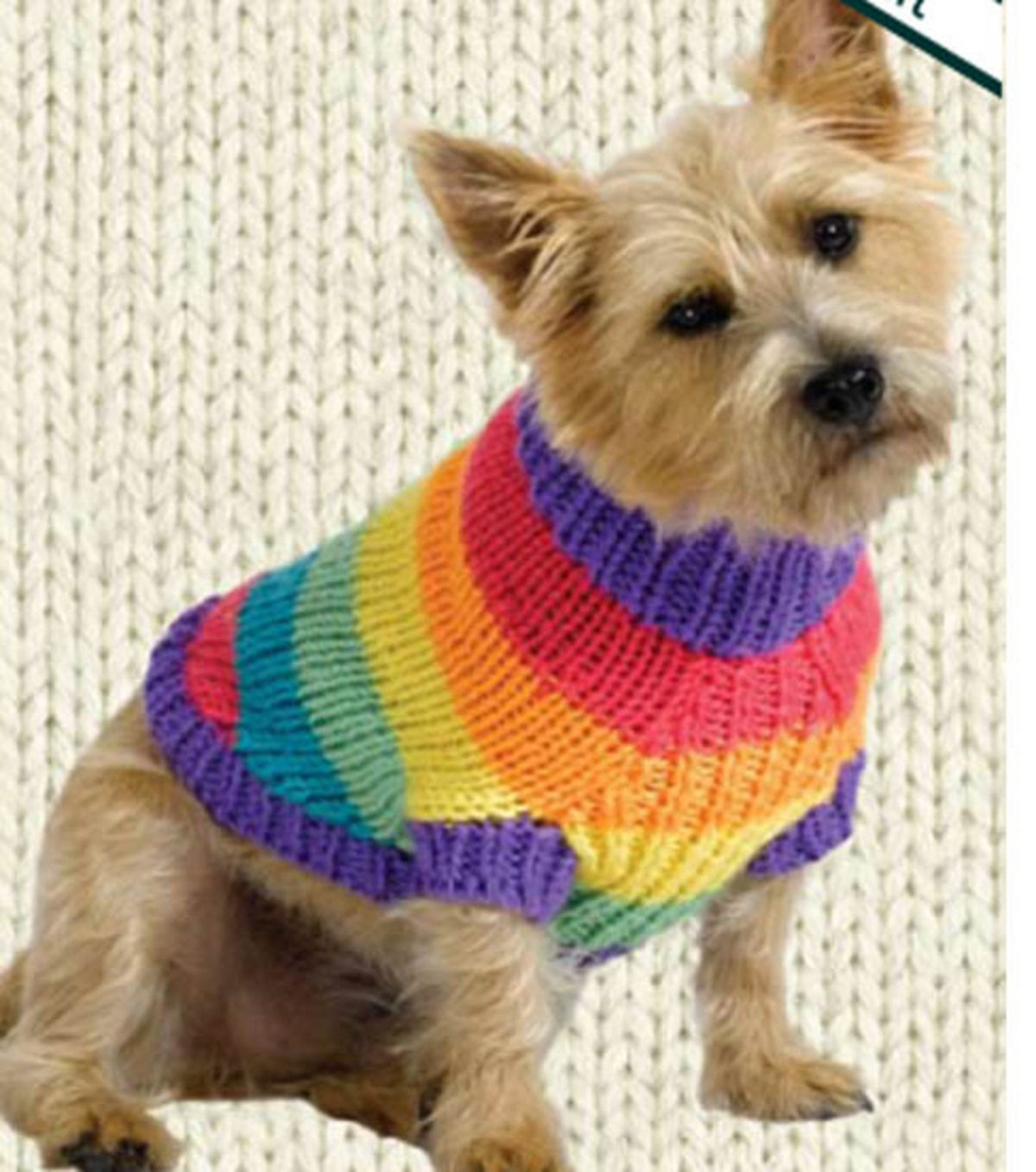 Poochs rainbow sweaterpoochs rainbow sweater pet love dog sweaters miss julias vintage knit crochet patterns free patterns dog sweater coats to knit crochet bankloansurffo Gallery