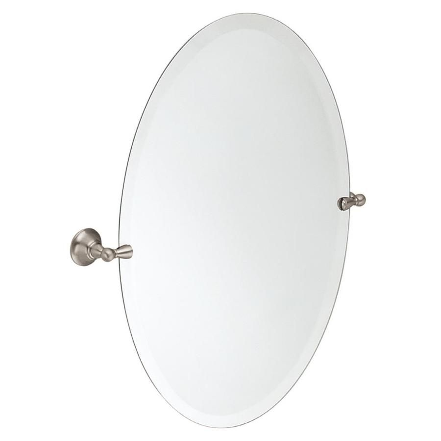Moen Sage 22 79 In X 26 In Oval Frameless Bathroom Mirror With