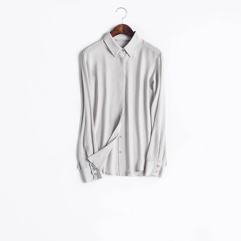 c00a11953e97d 100% Silk Shirt– White Blouse – Minimalist wardrobe. Sz. S -XXL. Minimalist  WardrobeWhite BlousesCapsule WardrobeRipped JeansWardrobesBirdStoreEbay