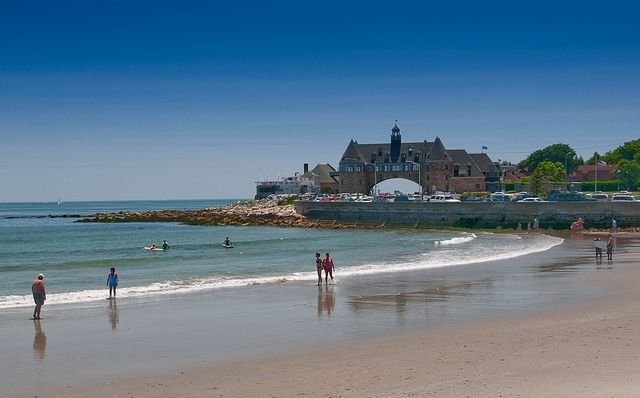 Narragansett Beach Town Tower Rhode Island Rhodes Historic