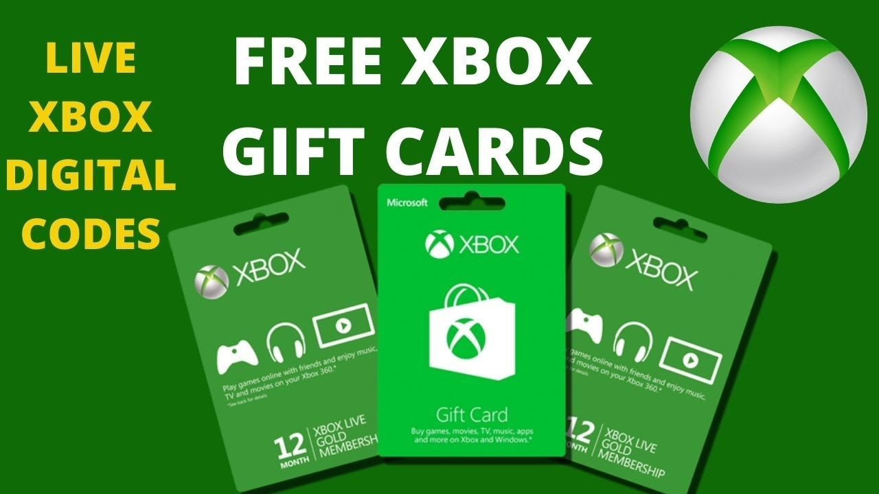 Free xbox gift cards free xbox live codes in 2020 with