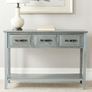 Distressed Blue Console Table French Country Blue Console Table Colorful Furniture French Country Furniture