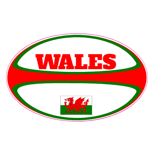 Wales rugby ball sticker u s custom stickers