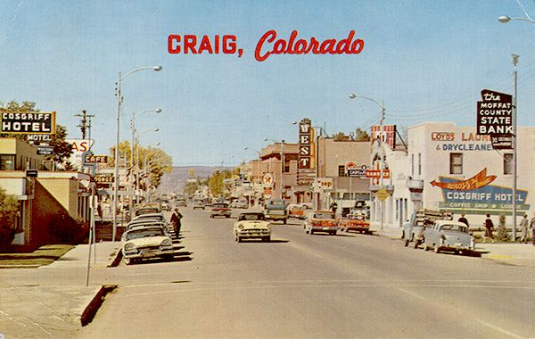 Looking west on Victory Way at Russel Street. Postcard ca. 1950 ...
