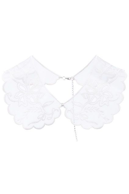 Sheer Lace Scalloped Collar - Romwe