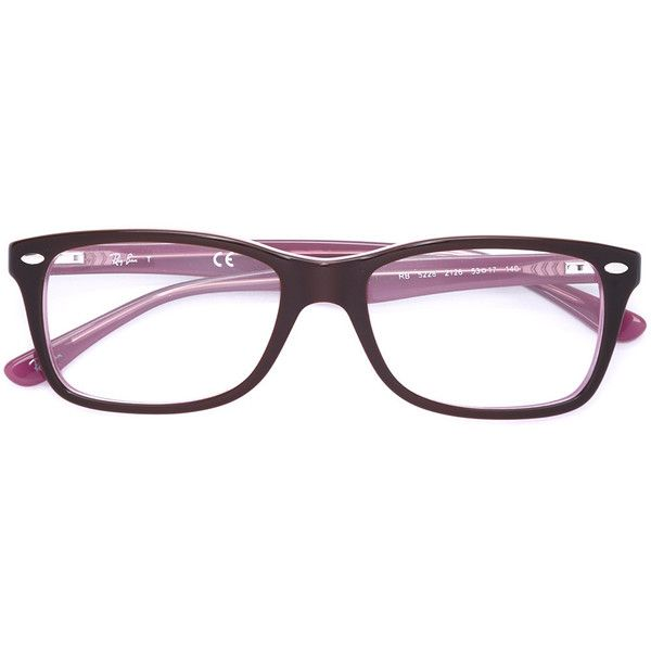 e7d451b082 Ray-Ban square frame glasses ( 154) ❤ liked on Polyvore featuring  accessories