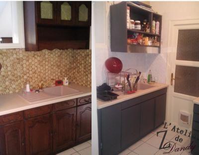 Avant apres relooking vieille cuisine \u003c3 *Home sweet home - Peindre Armoire De Cuisine En Chene