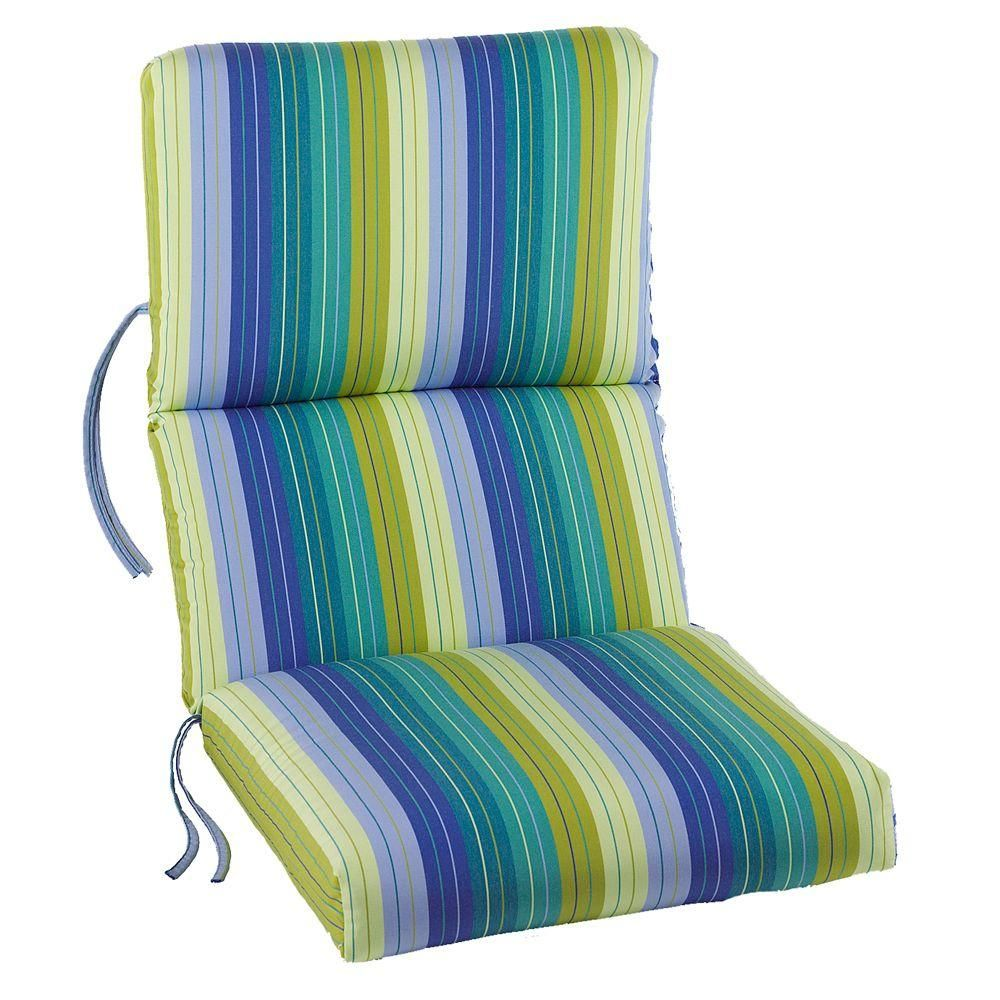 Home Decorators Collection Sunbrella Seaside Seville Outdoor Dining Chair Cushion