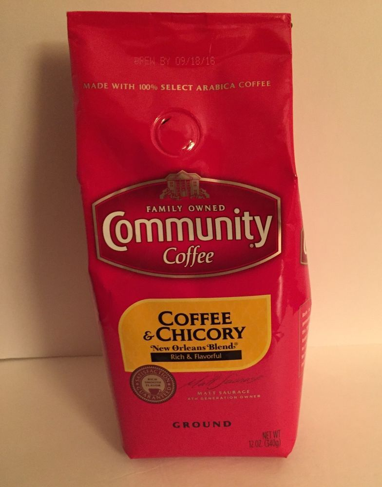Popular New Orleans Louisiana Blend munity Ground Coffee Chicory Medium Dark Roast in Home & Garden Food Style - Contemporary chicory coffee