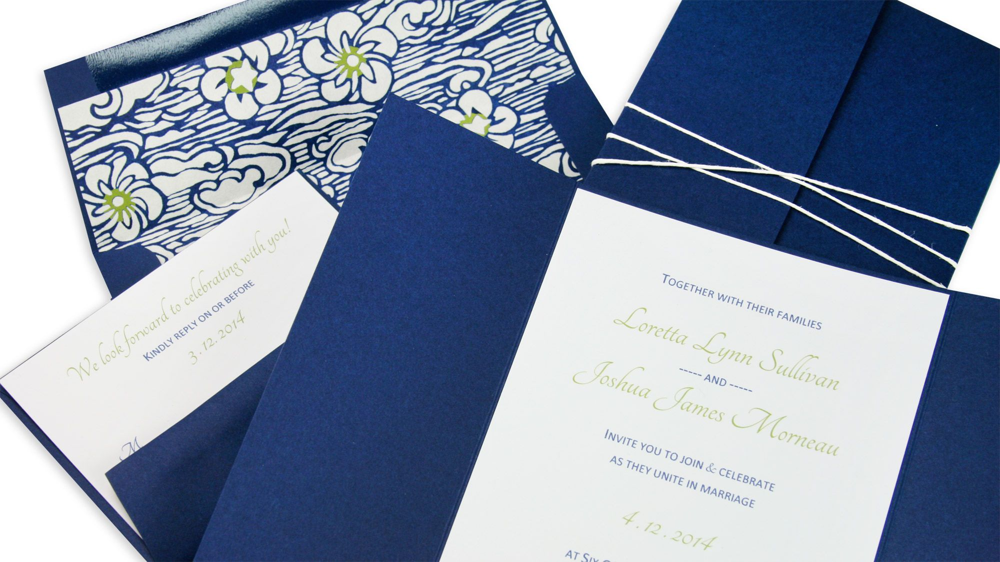 gate fold invitation wrapped in twine free templates and