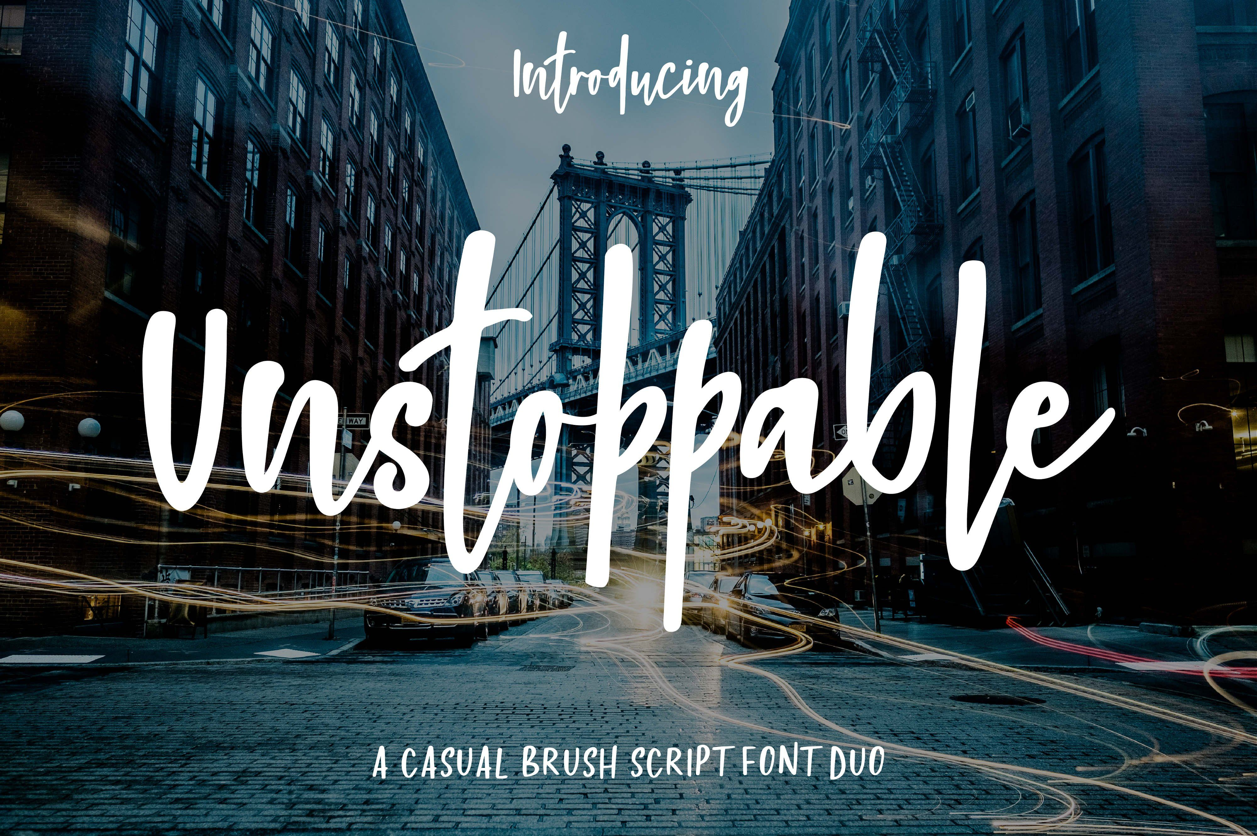 cursive fonts for wedding cards%0A Introducing Unstoppable  a casual brush script font duo that comes with a  whimsical bounce script
