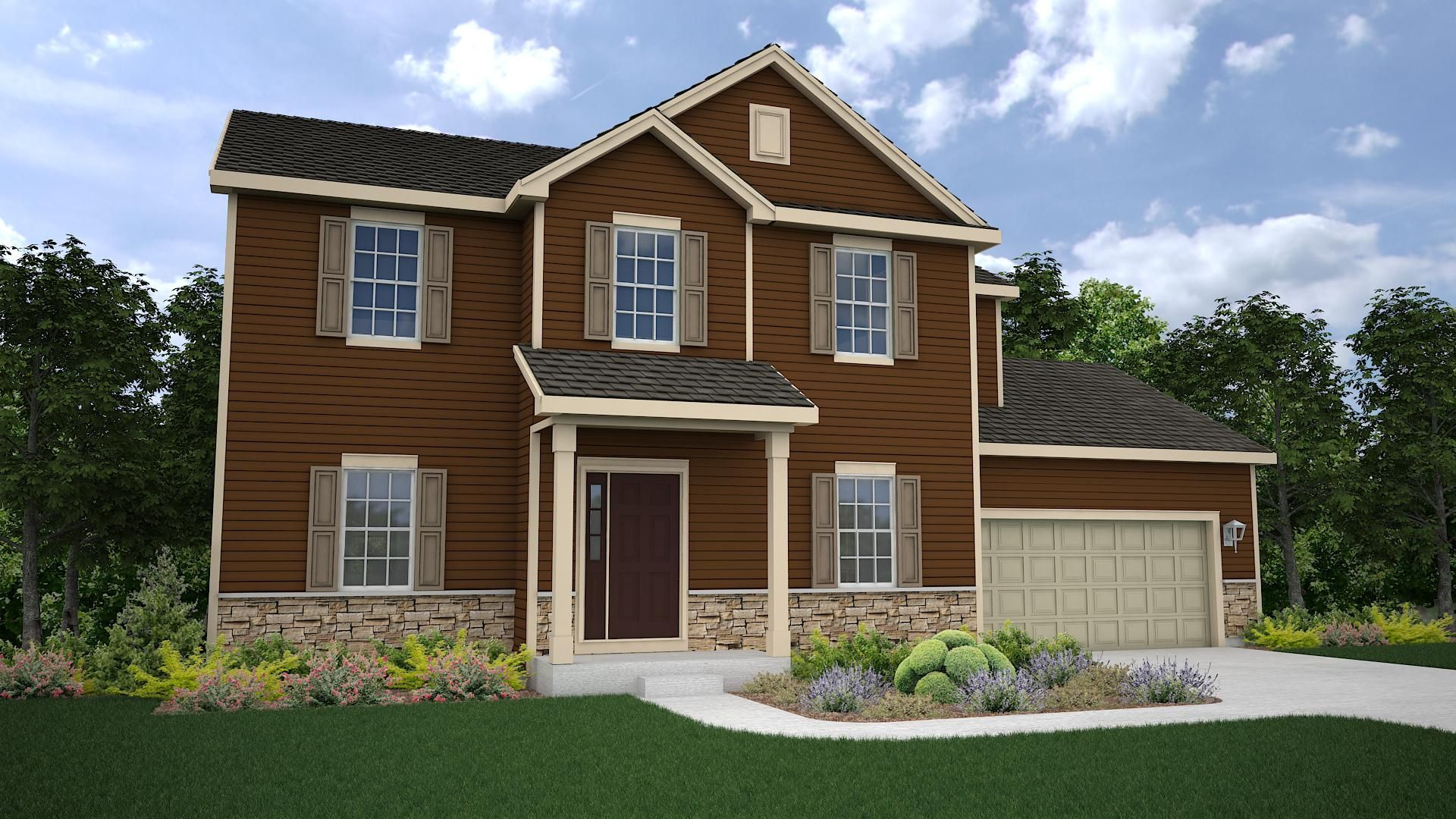Willow Traditional Elevation Timobrienhomes Home