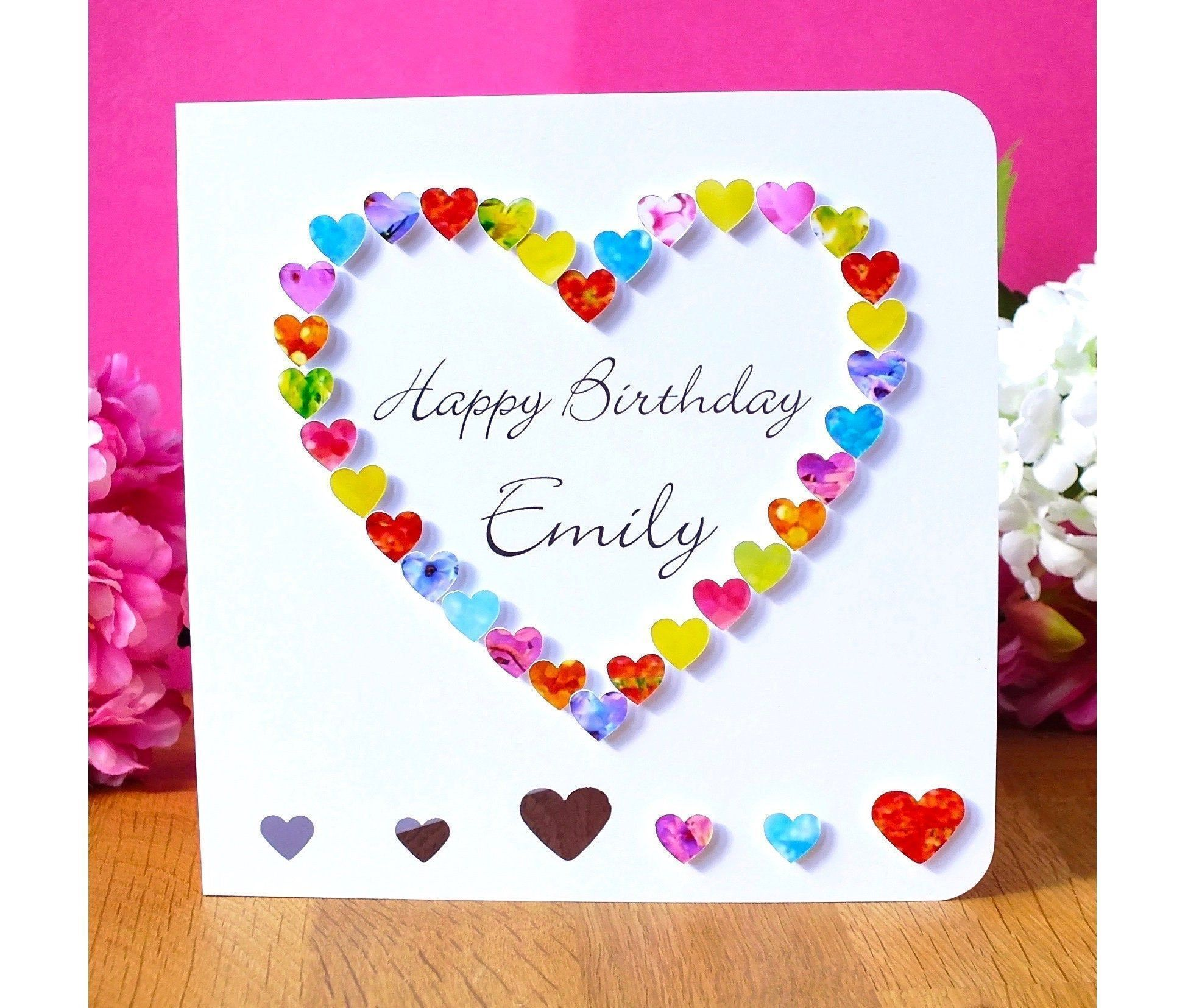 Handmade Personalised Birthday Card - Colourful Happy Birthday Card Customised with Name - Sister, Friend, Daughter, Mum, etc. #mumsetc Handmade Personalised Birthday Card - Colourful Happy Birthday Card Customised with Name - Sister, Friend, Daughter, Mum, etc. #mumsetc Handmade Personalised Birthday Card - Colourful Happy Birthday Card Customised with Name - Sister, Friend, Daughter, Mum, etc. #mumsetc Handmade Personalised Birthday Card - Colourful Happy Birthday Card Customised with Name - S #mumsetc