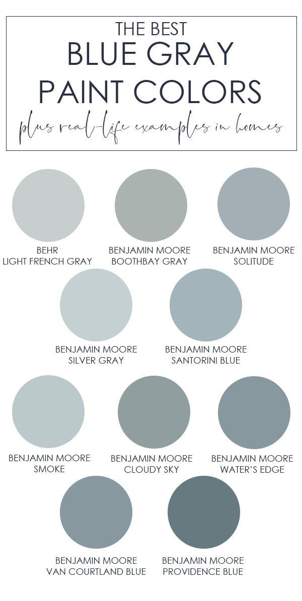 The Best Blue Gray Paint Colors Huis Verfkleuren Badkamer