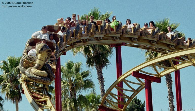 Cobra Six Flags Marine World Ca Roller Coaster Vallejo Six Flags
