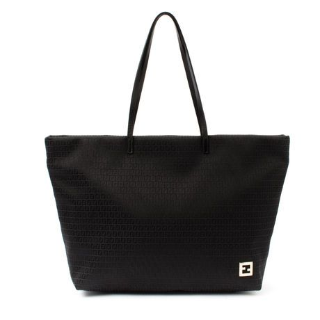 2cfeaff3058 Fendi black cotton  tote in  Zucchino