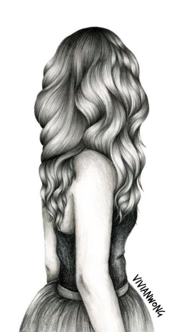 Me And Me Alone Beautiful Drawings Sketches Hair Sketch