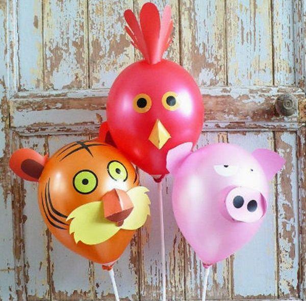 ideas-creativas-para-decorar-globos-infantiles-animales - imagenes de decoracion con globos
