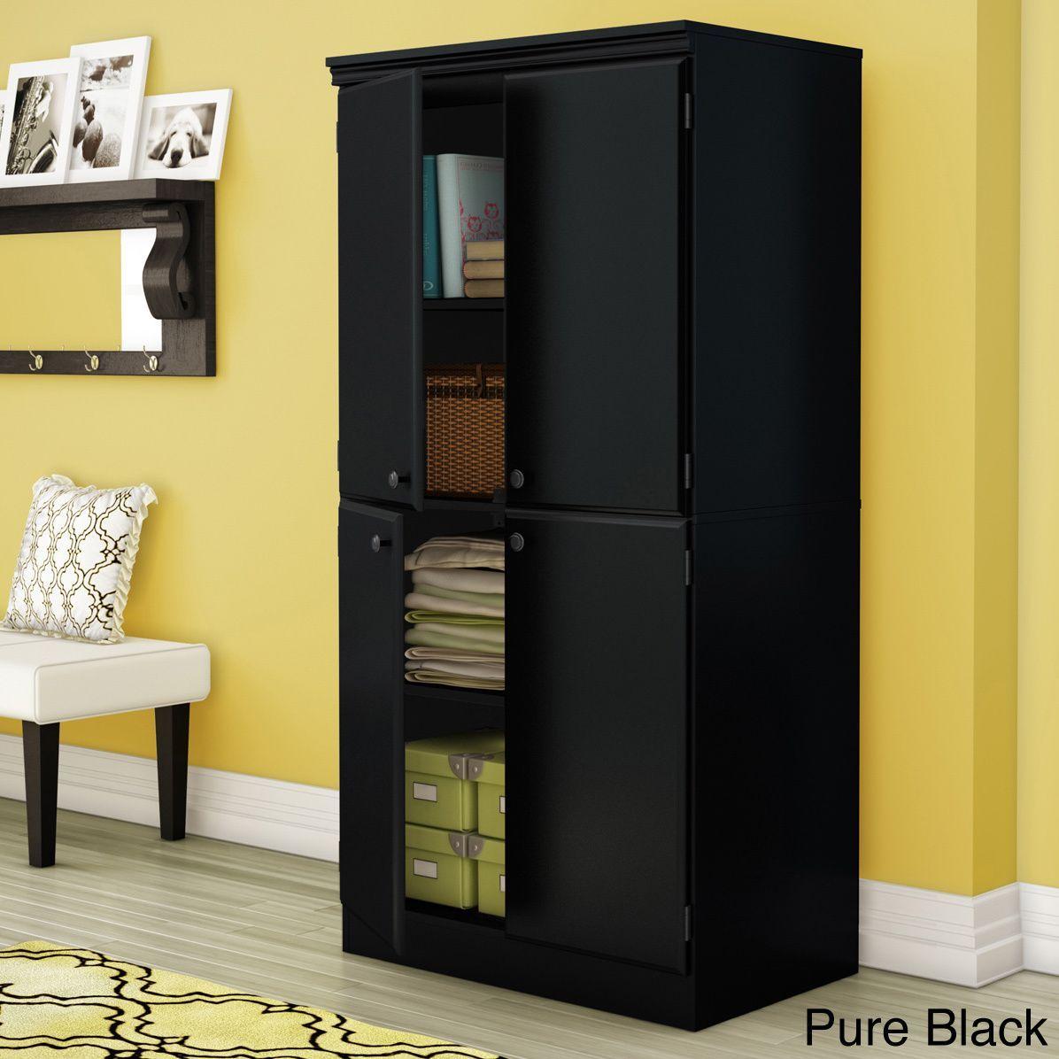 South Shore Morgan Storage Cabinet 4 Door Storage Tall Cabinet Storage Door Storage
